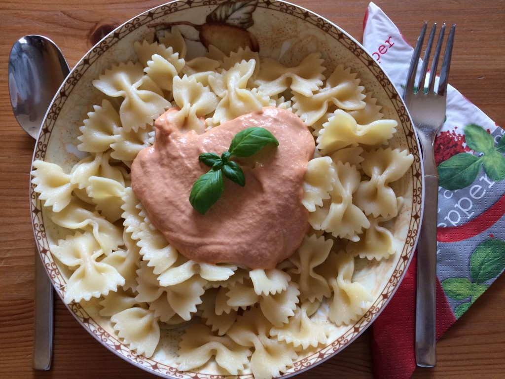 Pasta mit Thunfischcreme