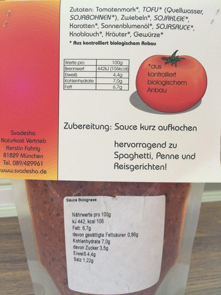Vegane Sauce Bolognese Svadesha