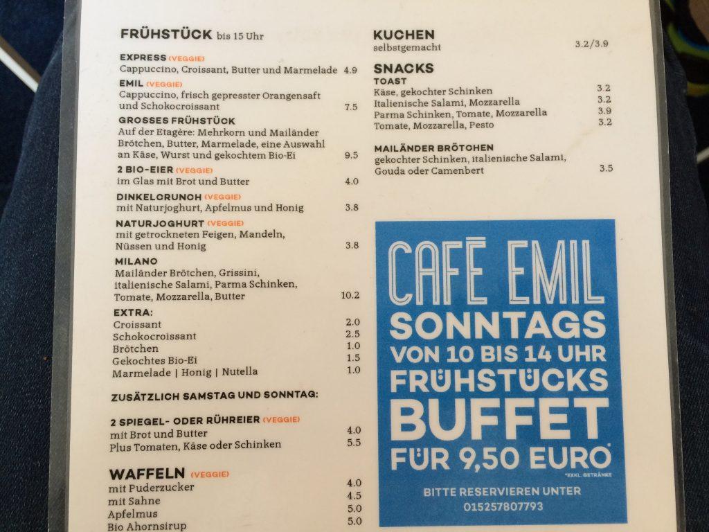 Café Emil im blauen Haus München Maxvorstadt