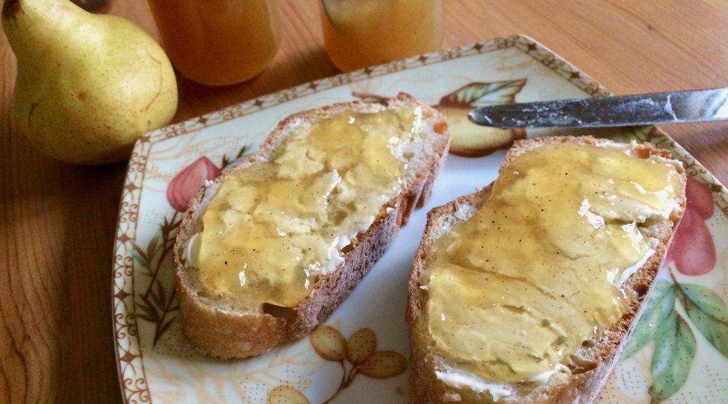 Birnen Marmelade mit Karamell und Whisky