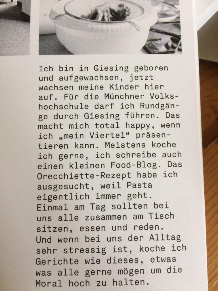 Das Giesinger Kochbuch im Flo***