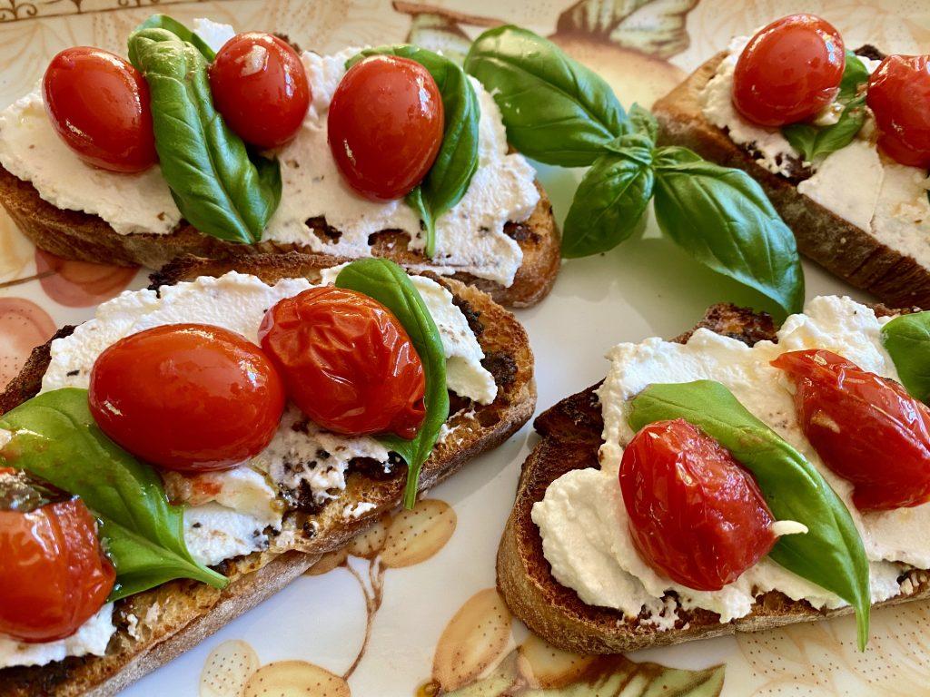 Tomaten-Ricotta Bruschetta