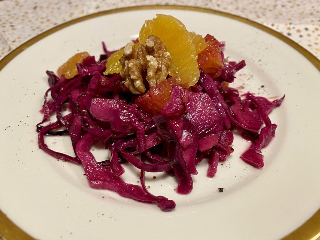 Blaukraut-Orangen Salat
